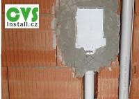 náhled - Hadice ve zdi – rámeček a záslepka